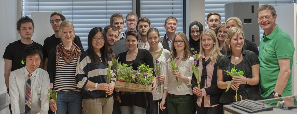 """Projekt """"Greening The Campus"""" unter Leitung von Prof. Peter Stebbing"""