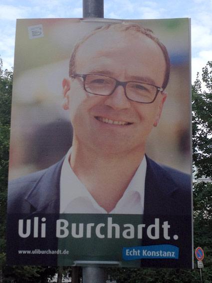 Wahlplakat Uli Burchardt