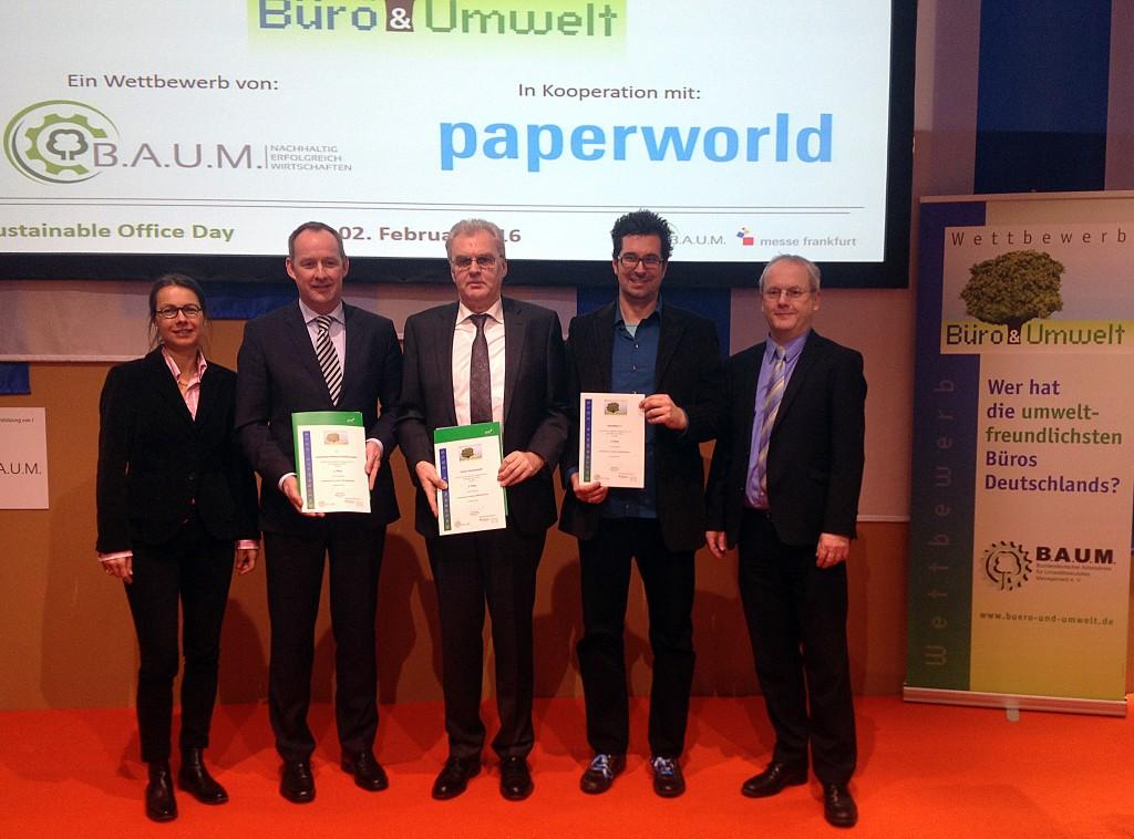 1. Platz Büro & Umwelt 2015BAUM