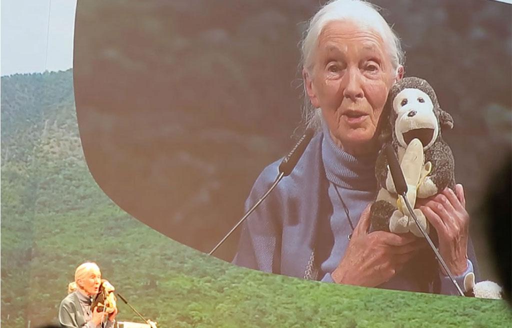 Dr. Jane Goodall – Standing Ovations auf der Biofach 2020 Nürnberg für ihre bewegende Keynote