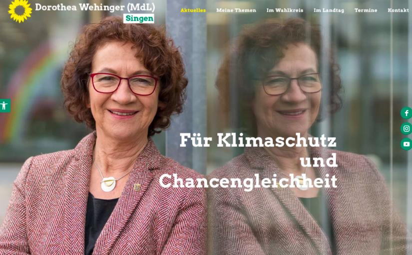 Dorothea Wehinger – Kampagnen Webseite online