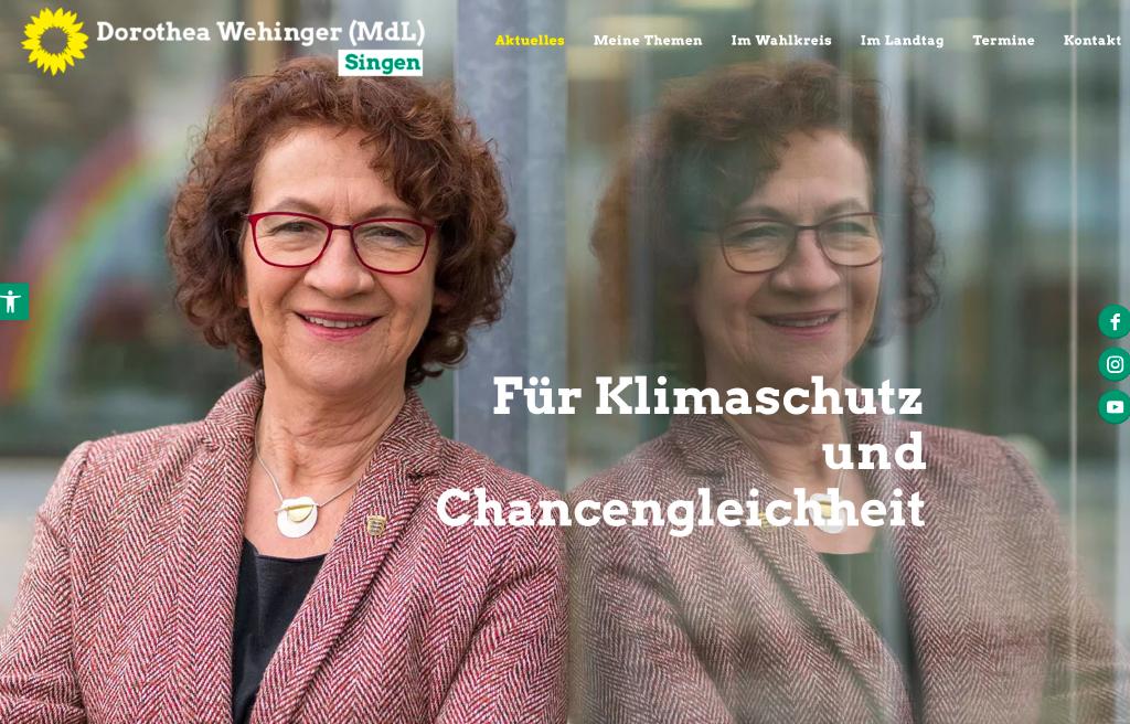 Dorothea Wehinger - Kampagnen Webseite online